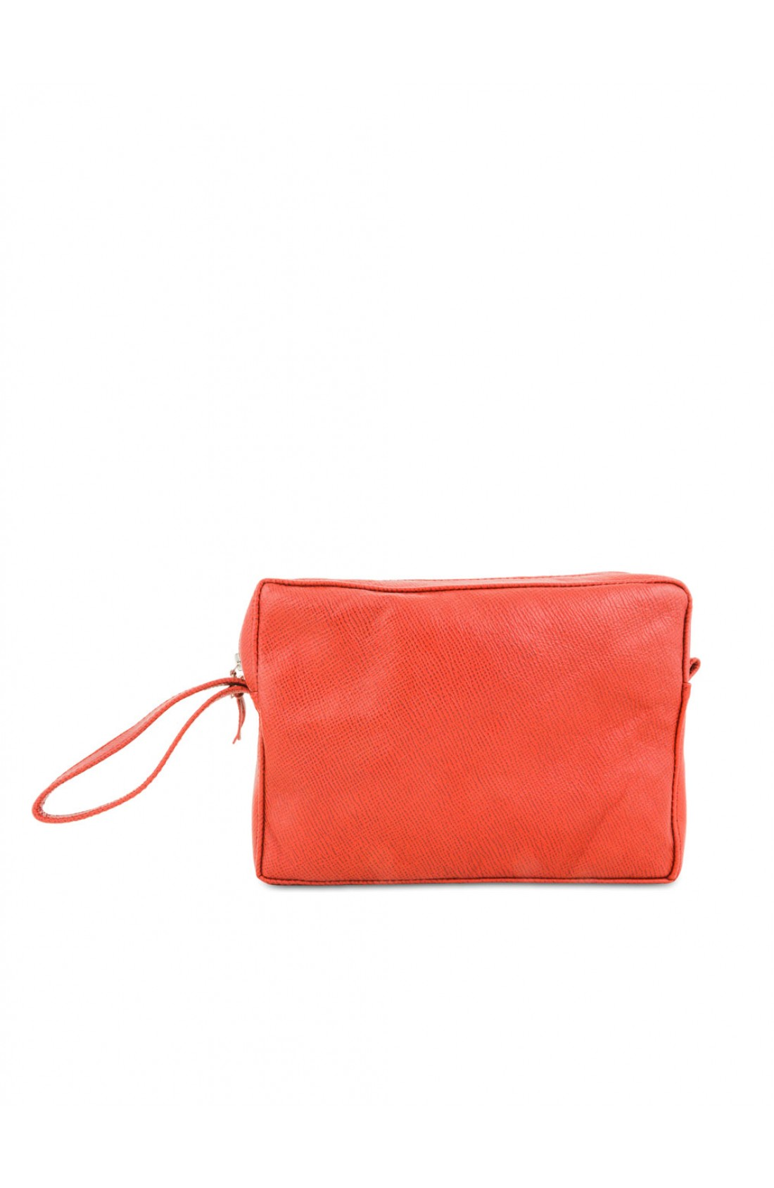 Borsa in pelle peach red